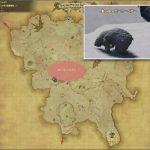 ポーラーベアー - クルザス西部高地の敵生息場所とドロップ素材(FF14 敵素材マップ:蒼天エリア)