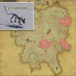 シルバーウルフ - クルザス西部高地の敵生息場所とドロップ素材(FF14 敵素材マップ:蒼天エリア)