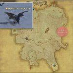 グランド・アルケオーニス - クルザス西部高地の敵生息場所とドロップ素材(FF14 敵素材マップ:蒼天エリア)アルケオーニスの粗皮