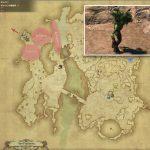 レーシー - ギラバニア辺境地帯の敵生息場所とドロップ素材(FF14 敵素材マップ:紅蓮エリア)ビーチ原木