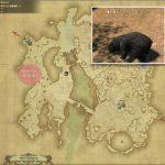 マウンテン・グリズリー - ギラバニア辺境地帯の敵生息場所とドロップ素材(FF14 敵素材マップ:紅蓮エリア)