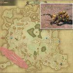 マウンテン・クレイビースト - ギラバニア湖畔地帯の敵生息場所とドロップ素材(FF14 敵素材マップ:紅蓮エリア)