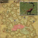 ダルメル - アバラシア雲海の敵生息場所とドロップ素材(FF14 敵素材マップ:蒼天エリア)ダルメルの粗皮、ダルメルの唾液、ダルメルの肉