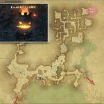 新式ボム培養炉 - 外地ラノシアの敵生息場所とドロップ素材(FF14 敵素材マップ:新生エリア)